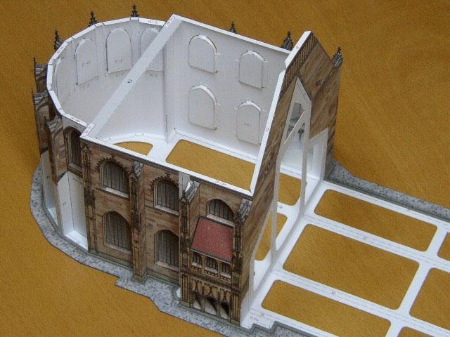 Lorenzkirche in Nürnberg 1:250 Lorenzkirche Kartonmodell St